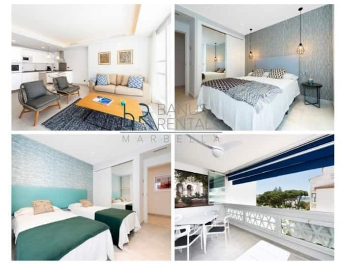 Modern 2 bedroom apartment, with sea views, in Puerto Banús