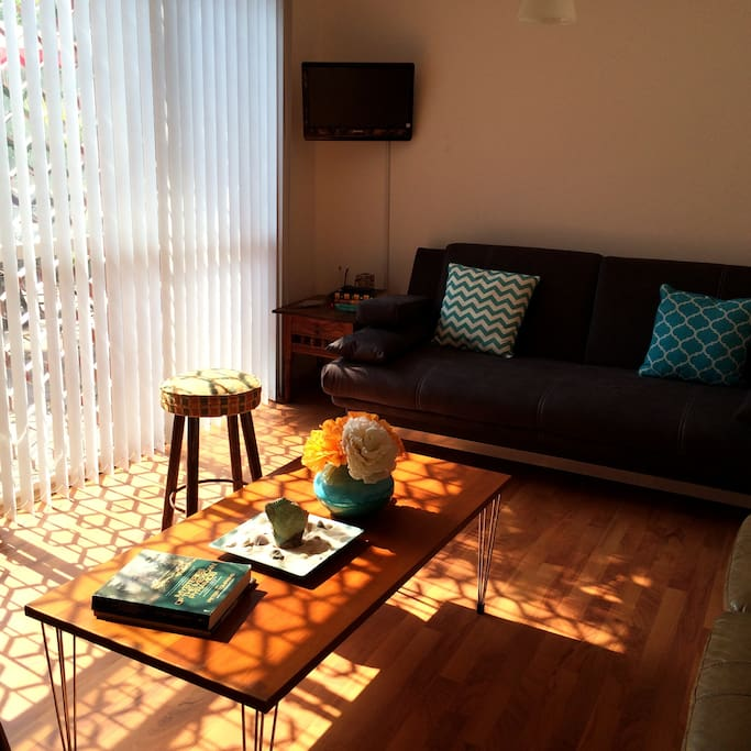 Living room area, late afternoon light