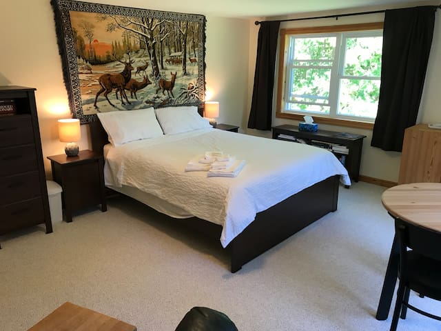 The Big Bedroom in our Muskoka Home.
