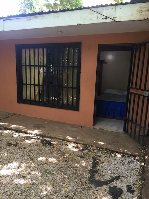 Very secure apartment ,with steel doors and security bars on windows.