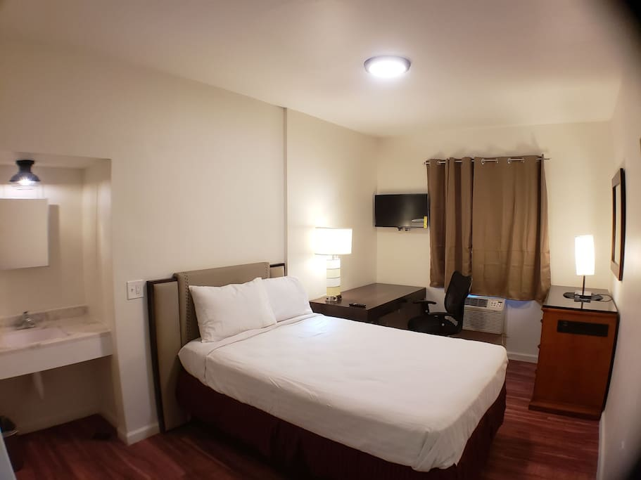 Private Full Bed And Desk