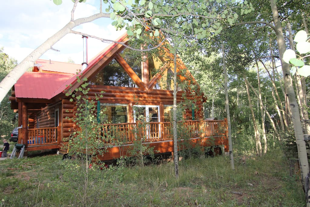 Luxury Log Cabin On 2 Acres Cabins For Rent In Fairplay