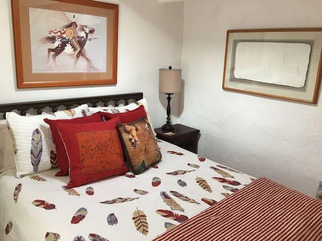 Guest appreciate the comfortable queen bed