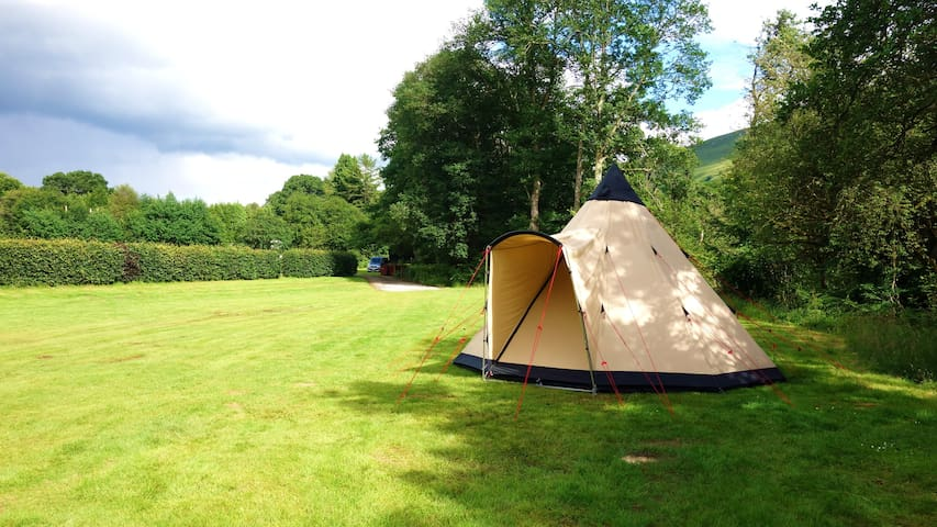 Tipi Tent 2 with River Access