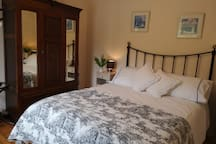 Cosy vintage bedroom with King size bed
