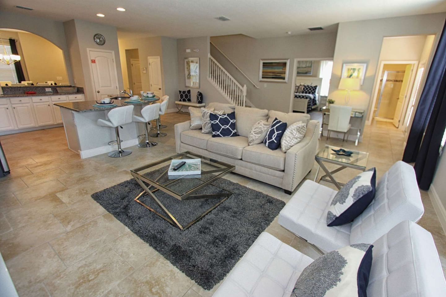 Beautiful Living Area Furniture and Accents