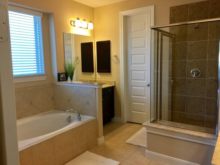 Master bath standing shower