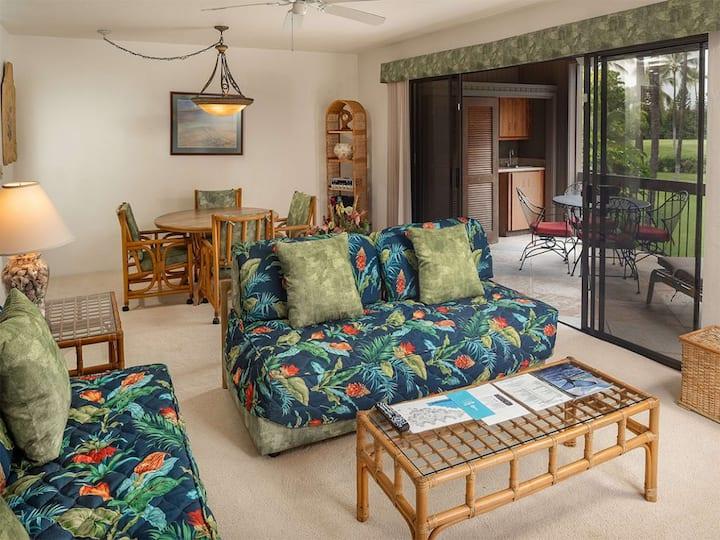 Lush View in Sunny Kona-Keauhou! Kitchen Ease, Lanai, Laundry, WiFi, TV Kanaloa 1204