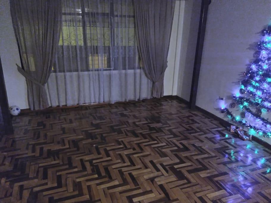 Amplia sala, totalmente libre para cualquier actividad (que no dañe el ambiente)