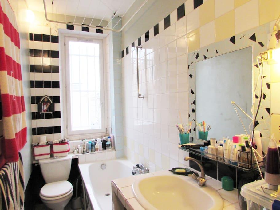 salle de bains: baignoire, WC