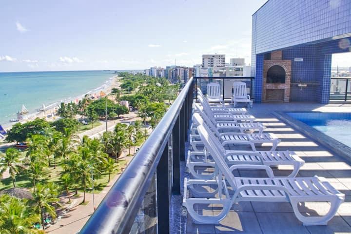 NEO2 Beira mar Praia Pajuçara (Coração turístico)