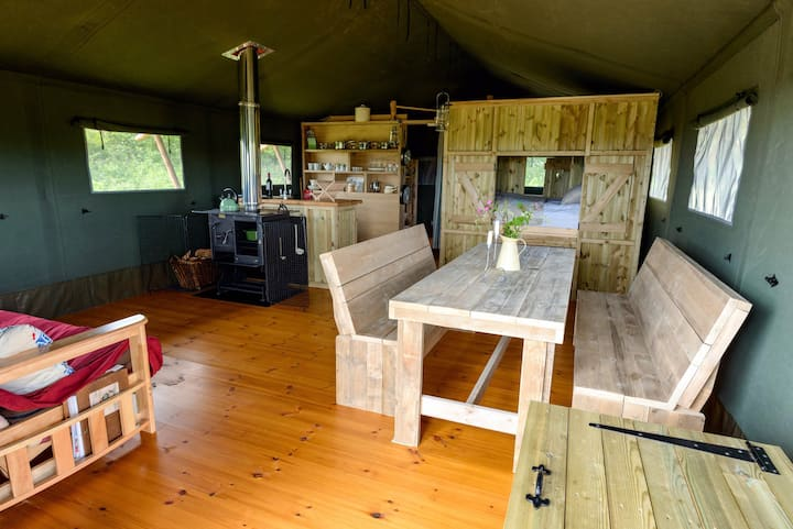 *Safari tent with sea views *Farm Stay
