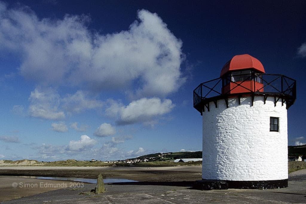 The iconic Burry Port Lighthouse