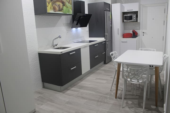 A new kitchen with dishwasher