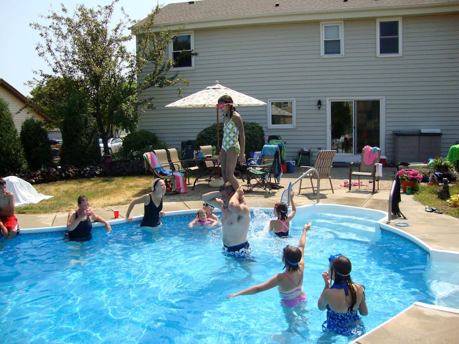Enjoy the pool, the family does.