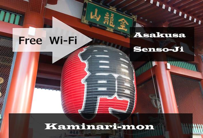 NEW 30%OFF★@Asakusa&Sensoji#5min walk#FREE WIFI#D5