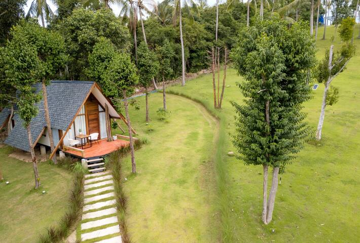 OPENING OFFER ! ROMANTIC HOUSE IN 300SQM PRIVATE DOMAIN ! UNIQUE IN SAMUI