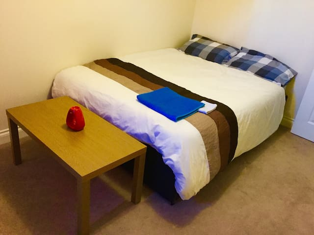 Warm bright double room