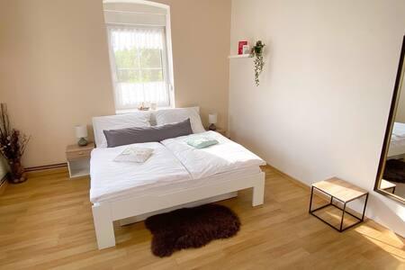 Prostorný apartmán se Zmrzlinárnou přímo v domě:-)