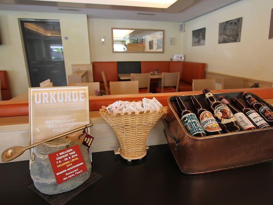 Restaurant mit Bierspezialitäten