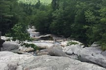 Nearby Hiking at Grafton Notch, Step Falls is perfect for the family! Many other hiking trails for all levels there too.