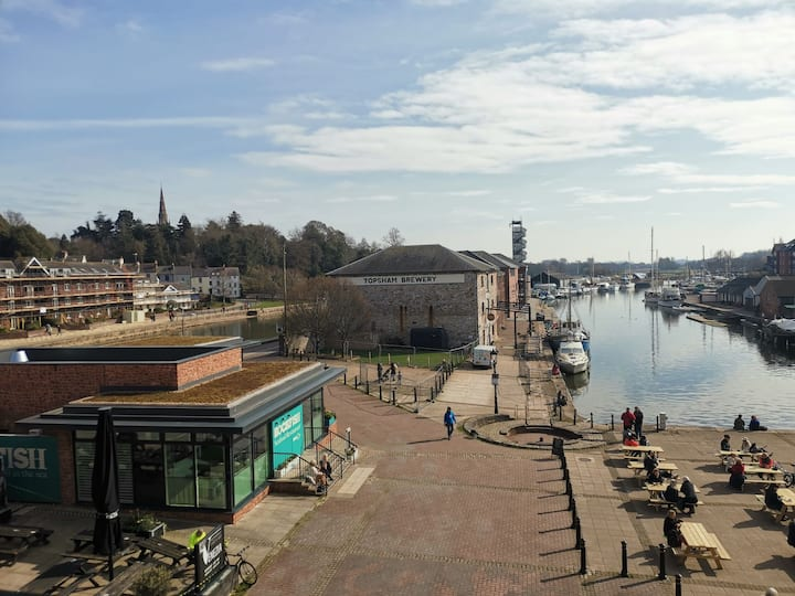 Exeter Quay penthouse with stunning river views