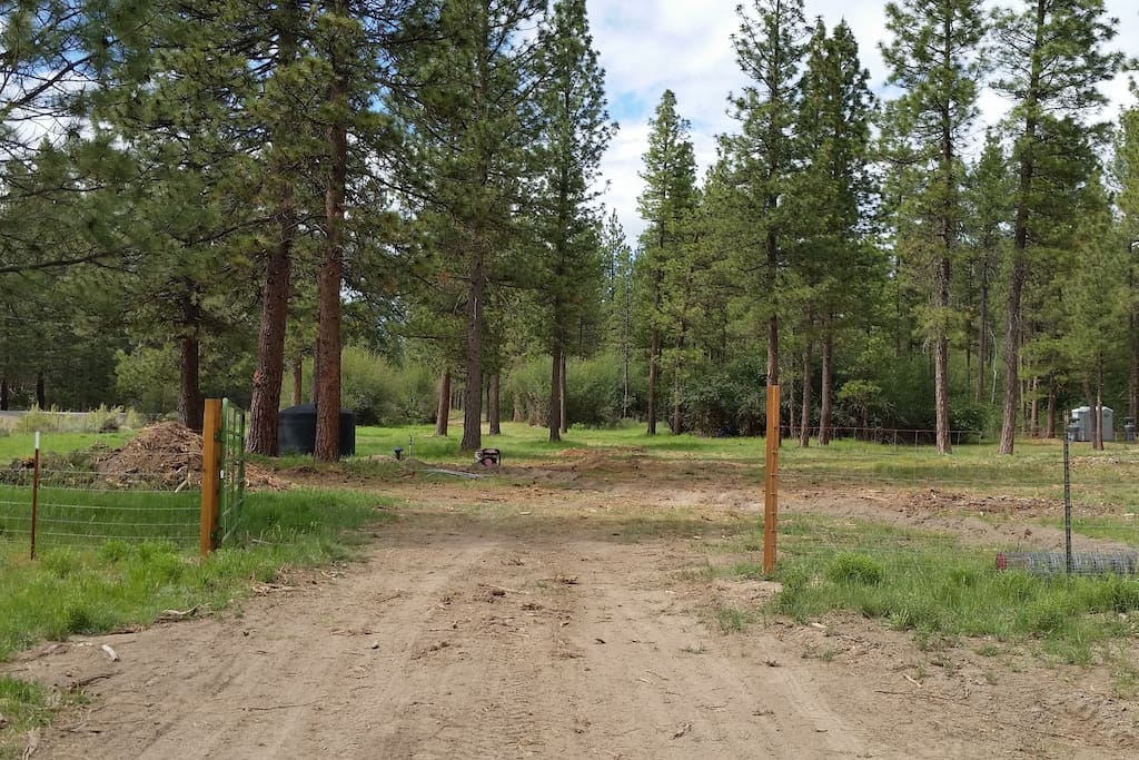 """Front gate of Horsey Campground, back into Camping """"loop"""""""