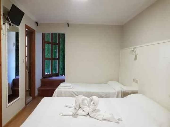 Habitación Doble Twin en Hotel Puente Vidosa