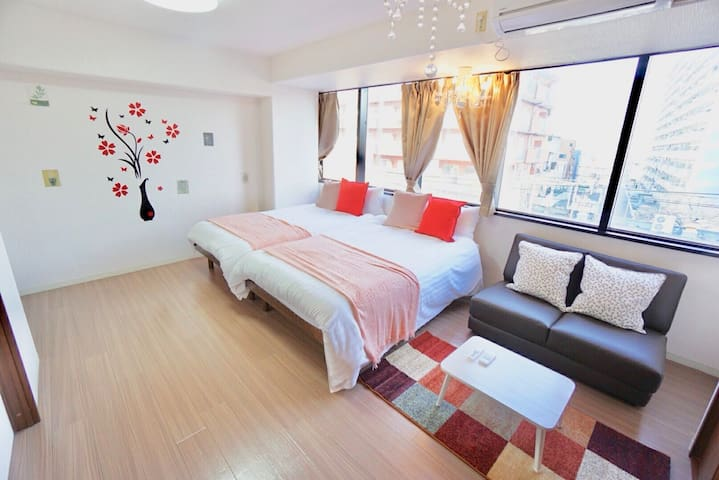 Max 10 people can stay! Near Shinsekai, Kuromon!