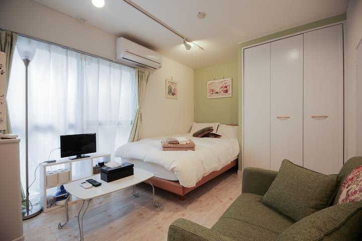 Tokyo cozy room nr STA 5min train→Shinjuku TV+WiFi