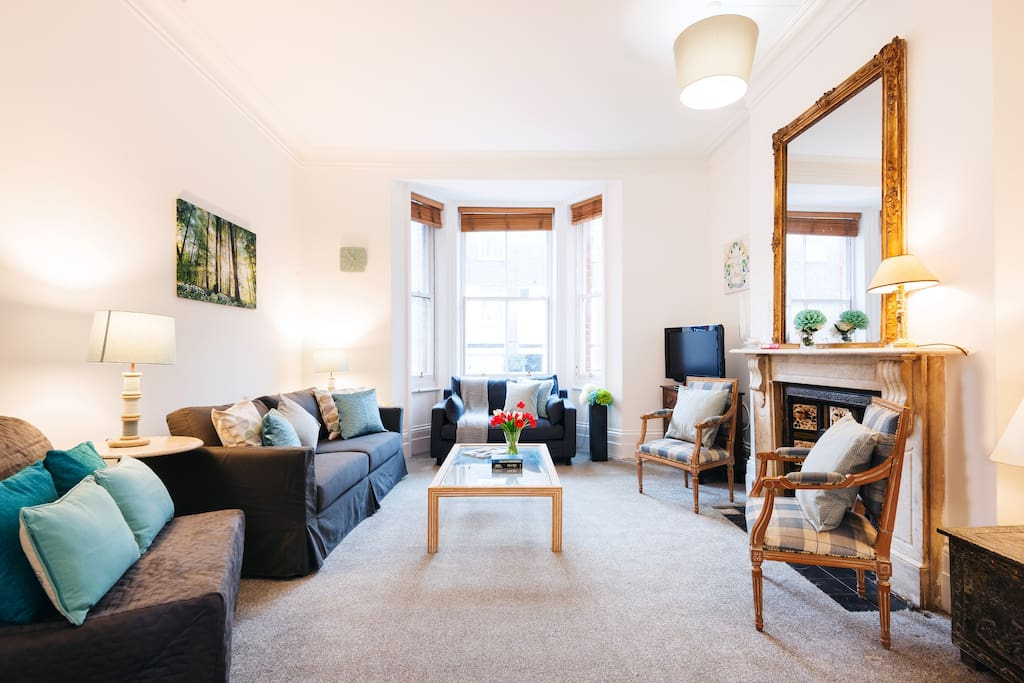 Living room with double sofa bed and single sofa bed
