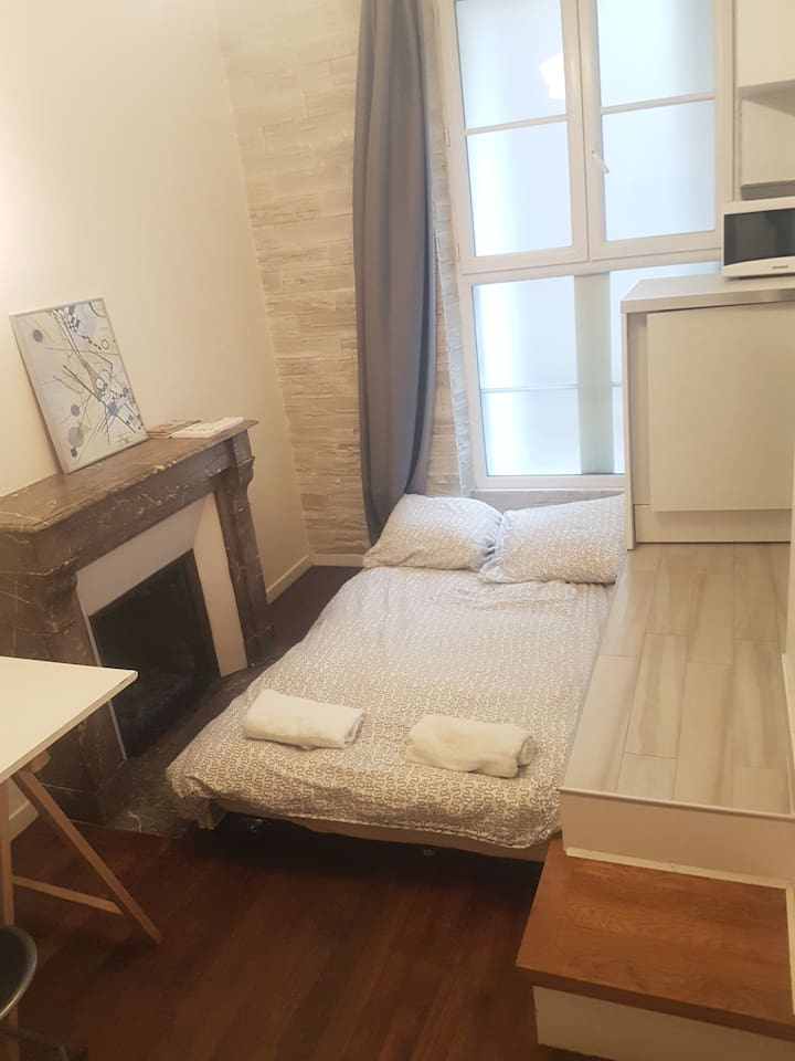 Comfortable bed for two persons