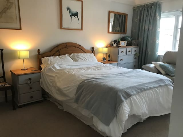 Comfortable double bed with own private en-suite