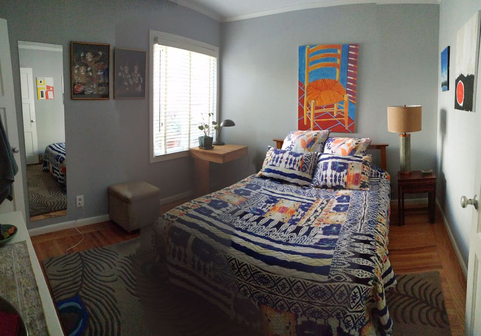 Panoramic of bedroom during day