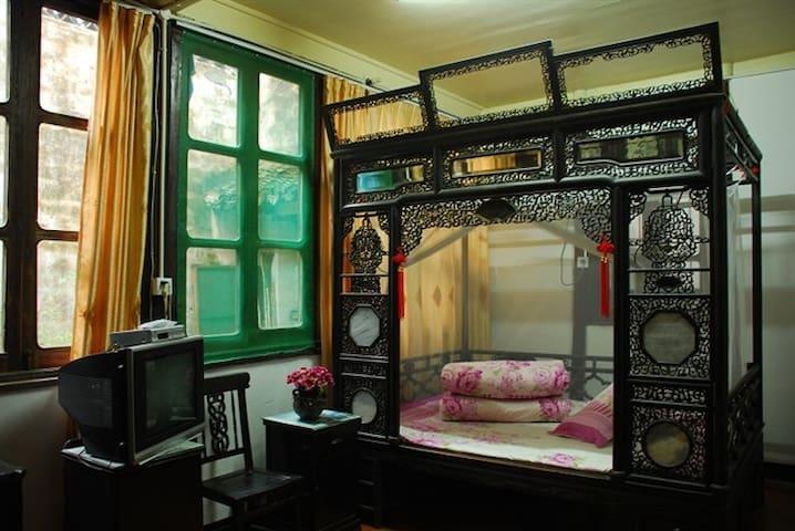 三宅一居2间房:黛玉房和宝钗房+公共客厅,休闲园景,河边喝茶 - Jiaxing - Talo