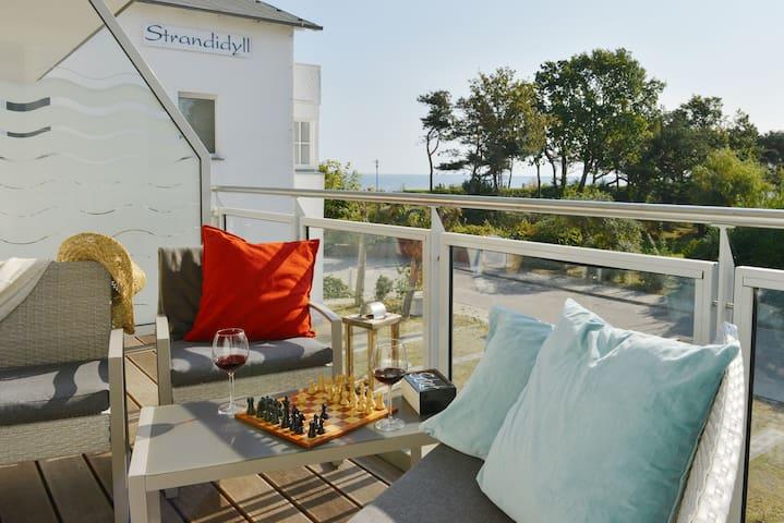 """Strandwohnung """"Wassermusik""""- direkt am Strand! - Breege - Apartmen"""