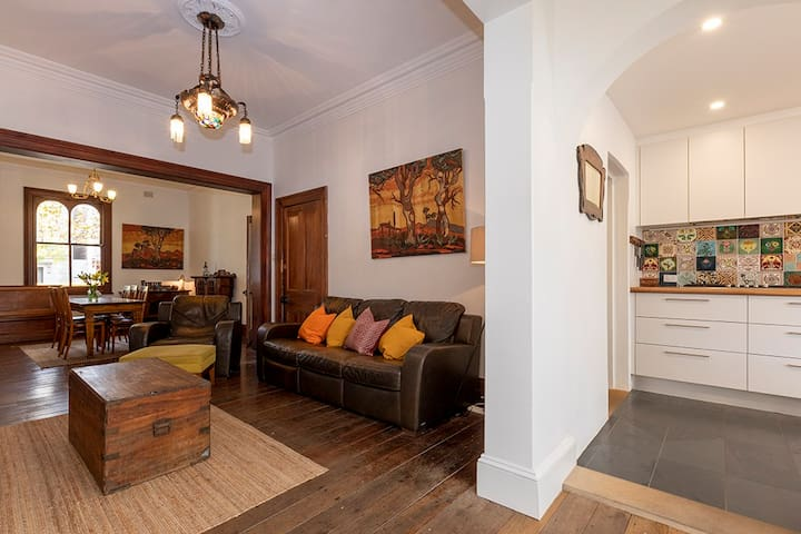 Comfy lounge room for relaxing movie nights in after a day out sightseeing