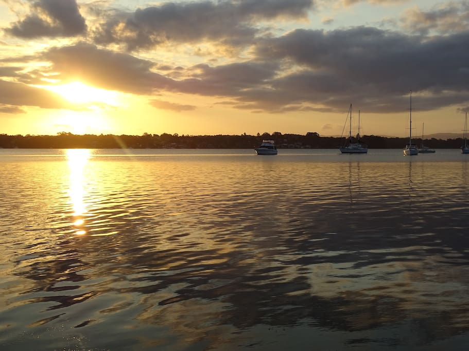 Peaceful Lake Macquarie at sunset
