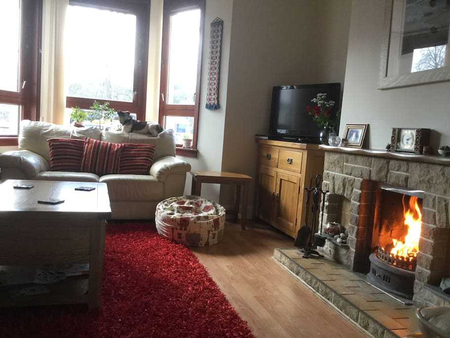 The sitting room is a grand place to relax and work out plans for what to do and see whilst in our area. The open fire provides a welcome no matter what the weather is doing.