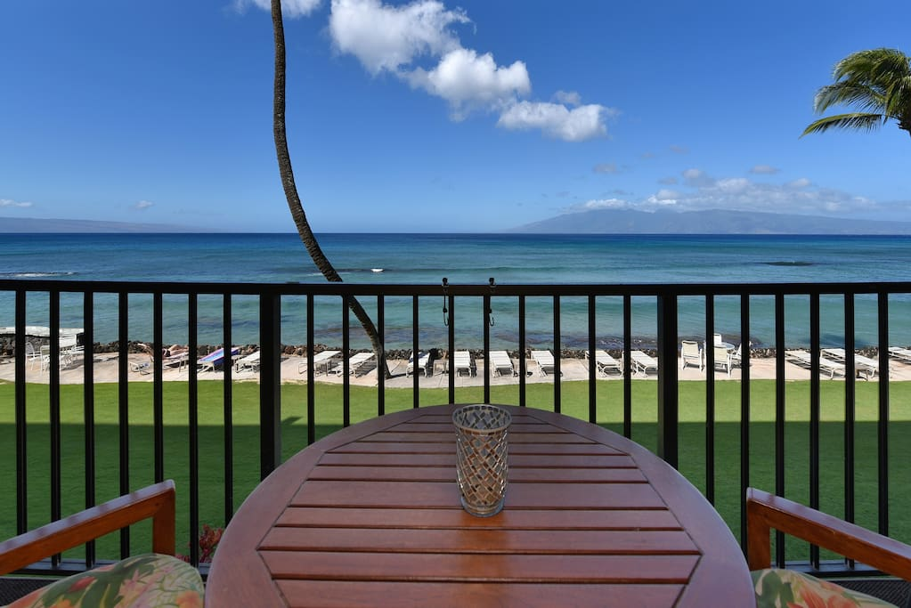 Take in marvelous ocean views from the private balcony.
