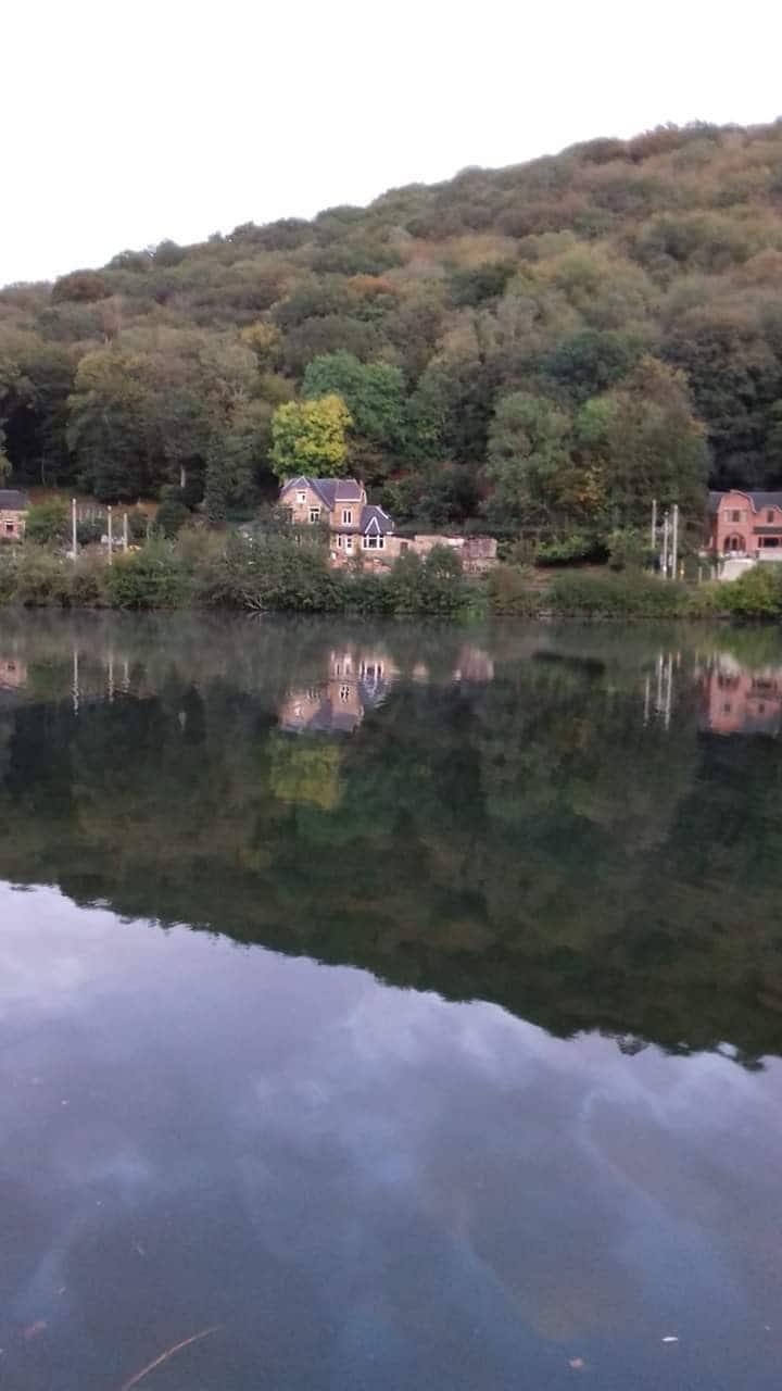 Maison Mosan avec vue sur Meuse et le bois de Dave