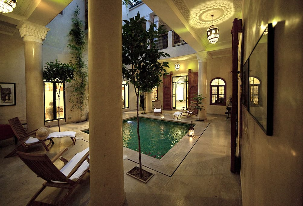 Relax by our shallow reflecting pool
