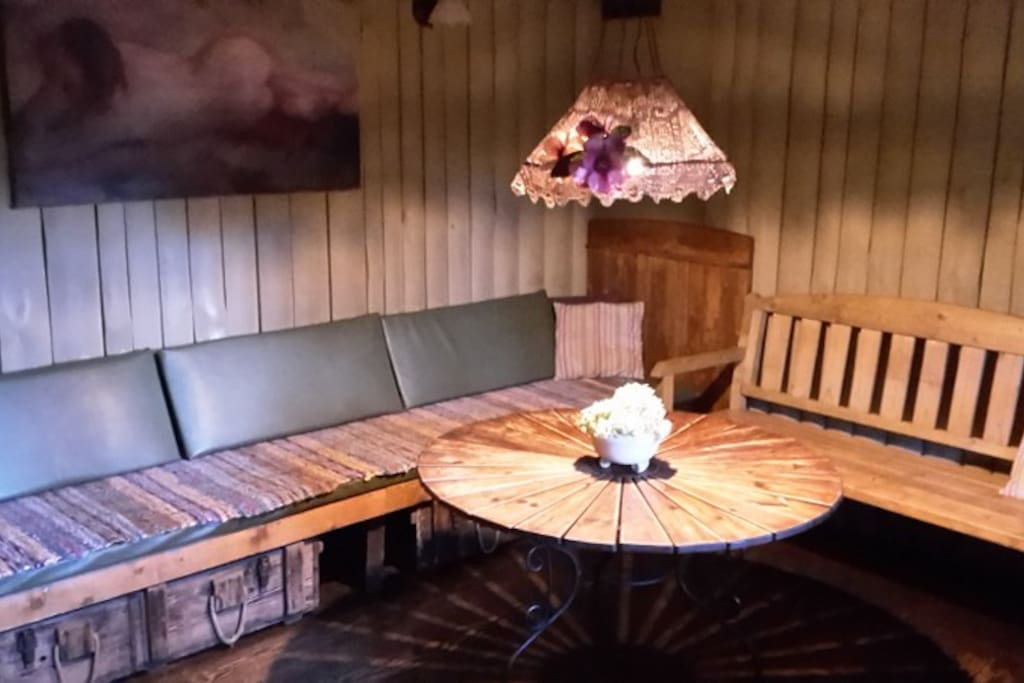 Guestroom where to relax after sauna procedures or enjoy a meal.