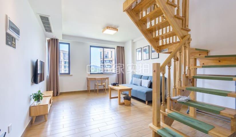 南湖公园 日式设计LOFT 酒店式公寓——大床房