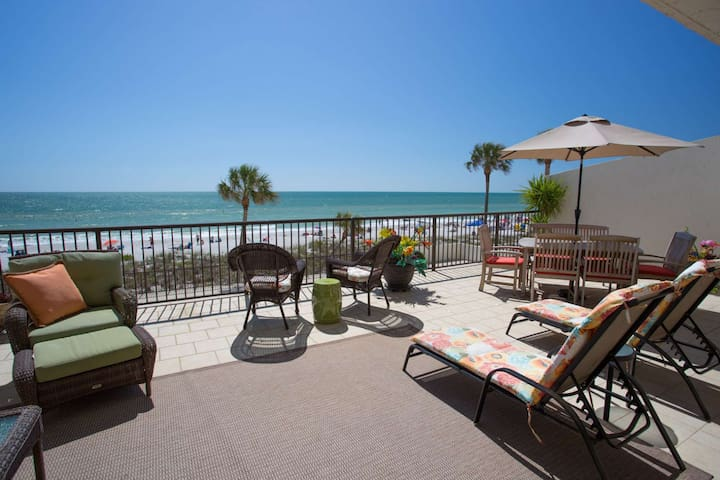 Fantastic Views From The Extra Large Beachfront Terrace. All Updated and Upgraded Inside.