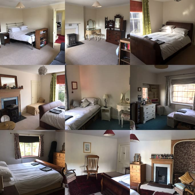An overview of the bedrooms. They are spacious with large beds.