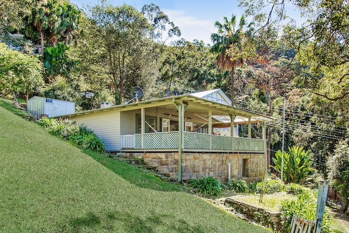 Unique hillside retreat overlooking Patonga Beach.