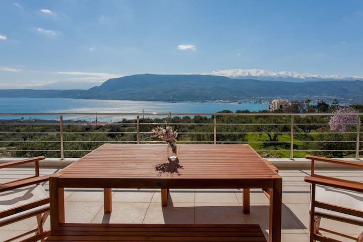 Breathtaking View 3-bedroom House in Chania area - Pithari - Haus