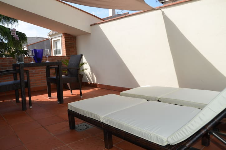 Beach apartment with terrace Costa Barcelona. - Malgrat de Mar - Kondominium