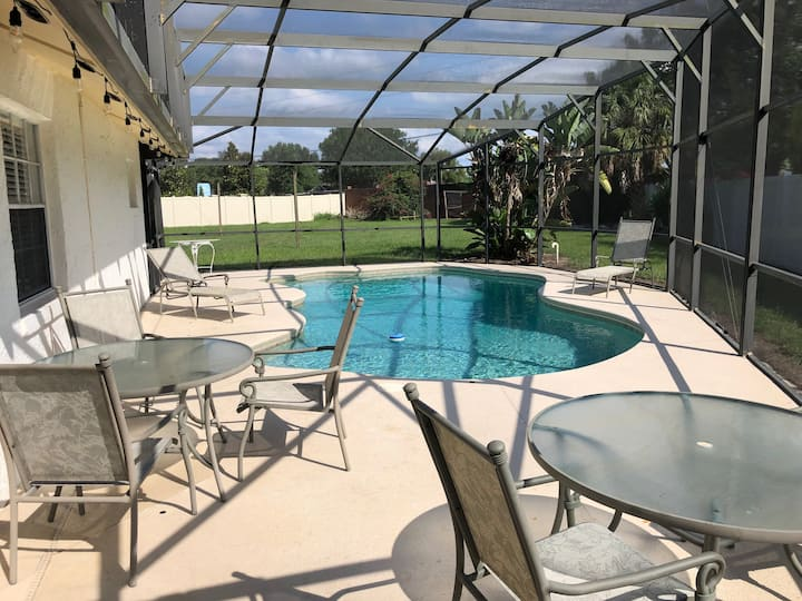 Comfy 3 Bedrooms - 2 Bathrooms home with pool.